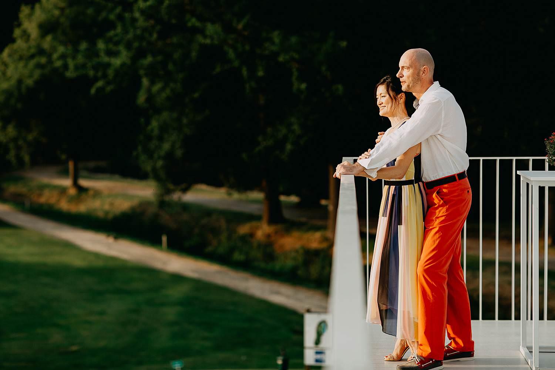 bruidspaar zonsondergang bruidspaar