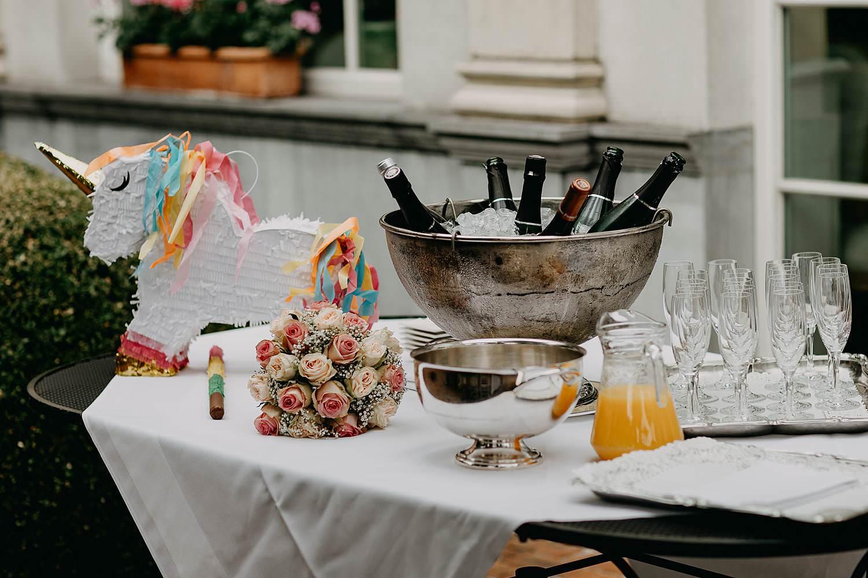 De Lozen Boer champagne huwelijk