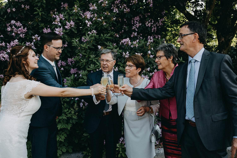 De Baenwinning huwelijk groepsfoto