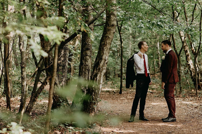 De Maten natuurgebied bruidspaar in bos