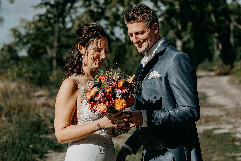 De Teut huwelijk bruidsboeket