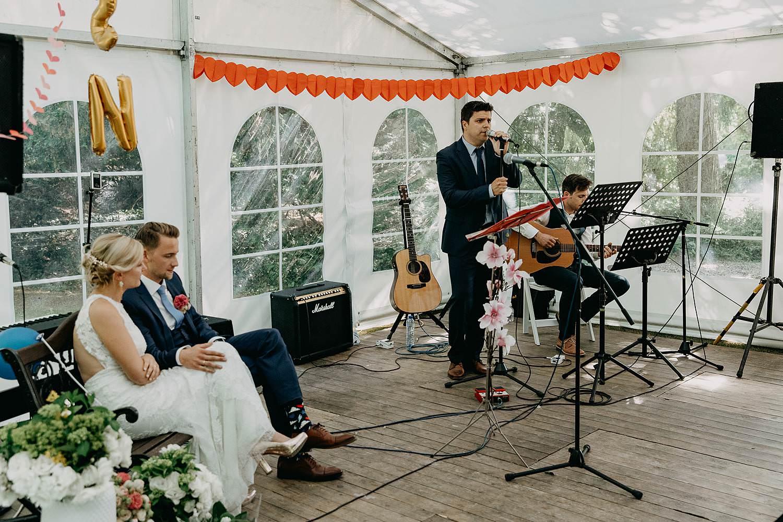 De Venkel binnenceremonie live band in tent