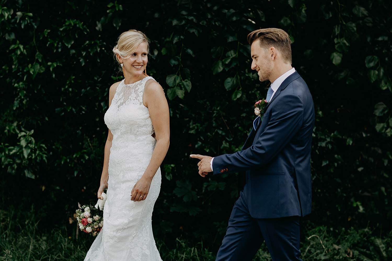 De Venkel trouwreportage in tuin