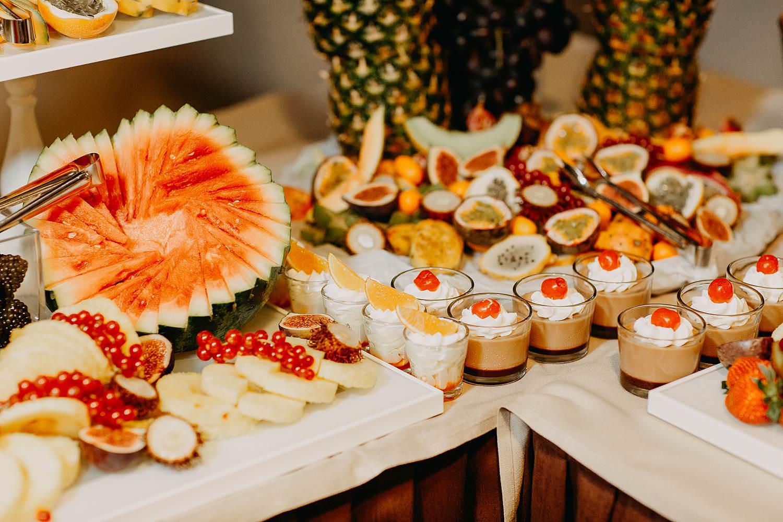 De Vesten dessertenbuffet huwelijk met vers fruit