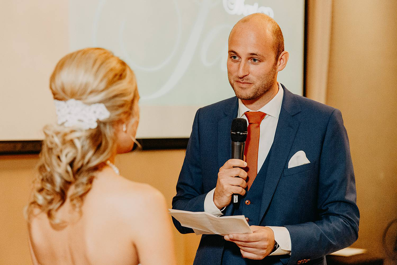 De Vesten huwelijk binnenceremonie ja-woord