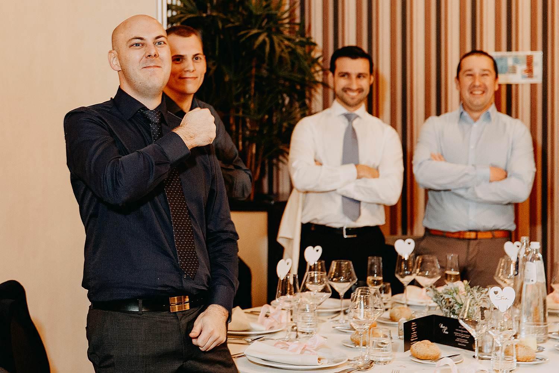 De Vesten huwelijk gasten aan tafel