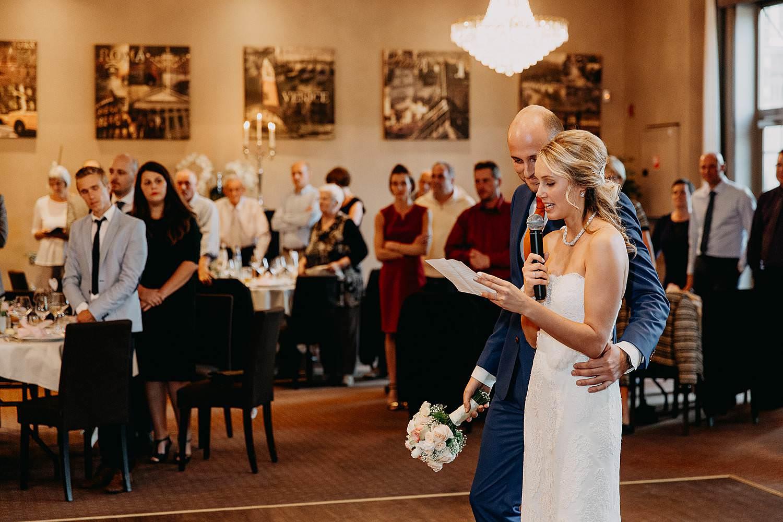 De Vesten huwelijk speech bruidspaar feestzaal