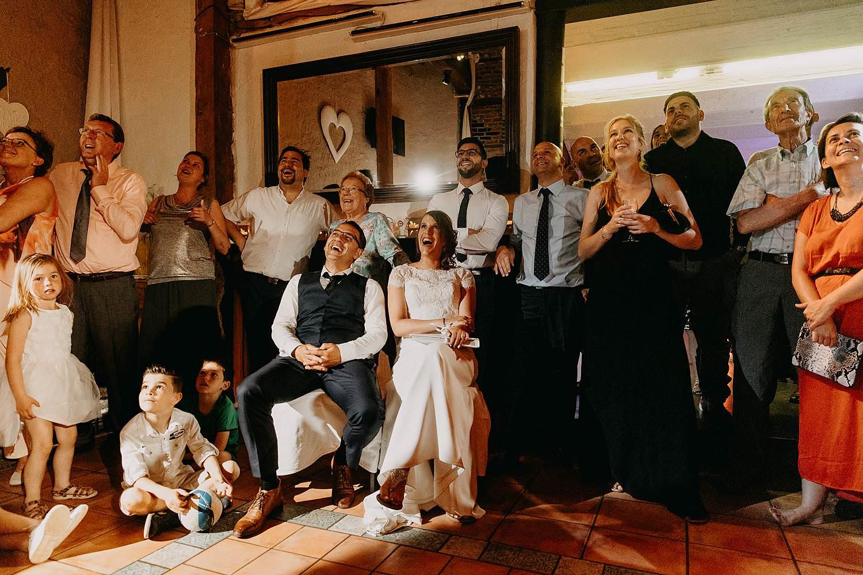 De Vrije Valk bruidspaar dia voorstelling feestzaal