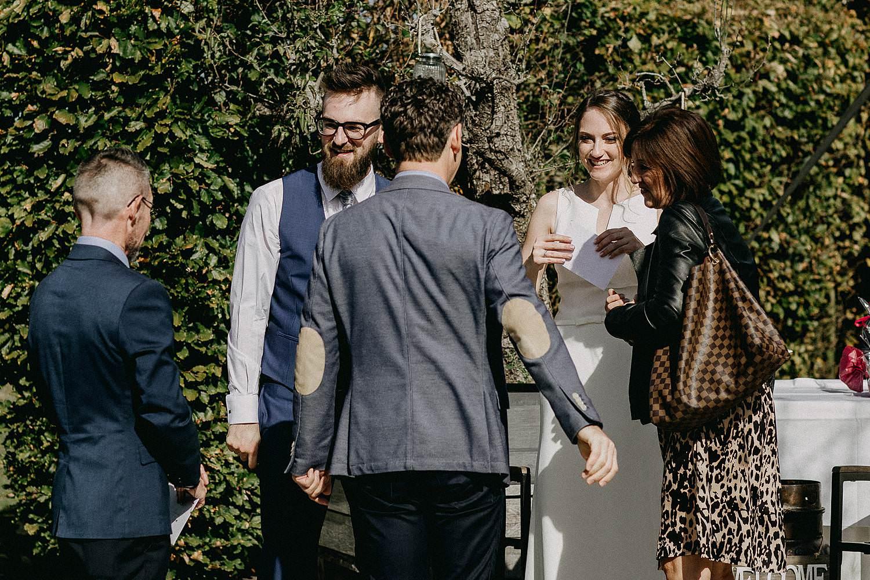 De Waterhoek bruidspaar ontvangt gasten