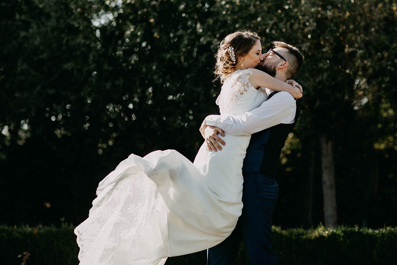 De Waterhoek huwelijksreportage bruidspaar kust