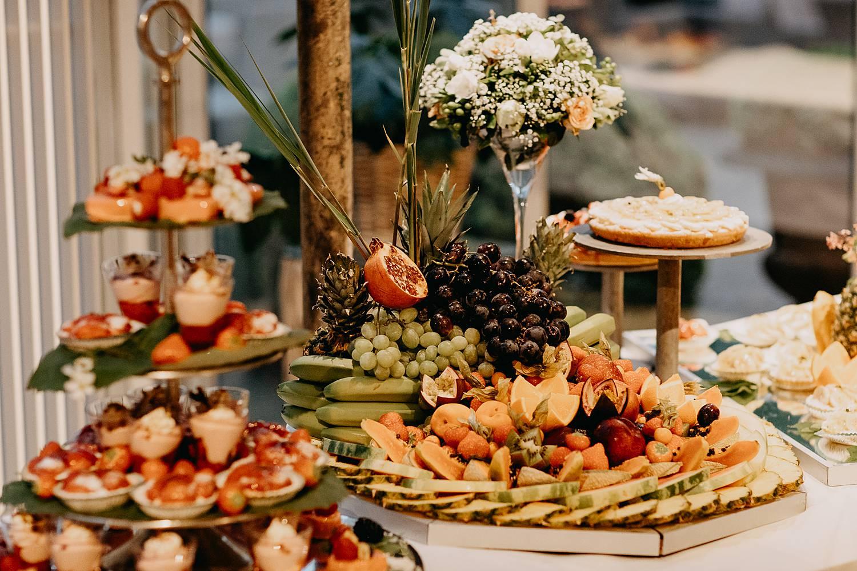 Dessertbuffet Hof te Rhode met fruit