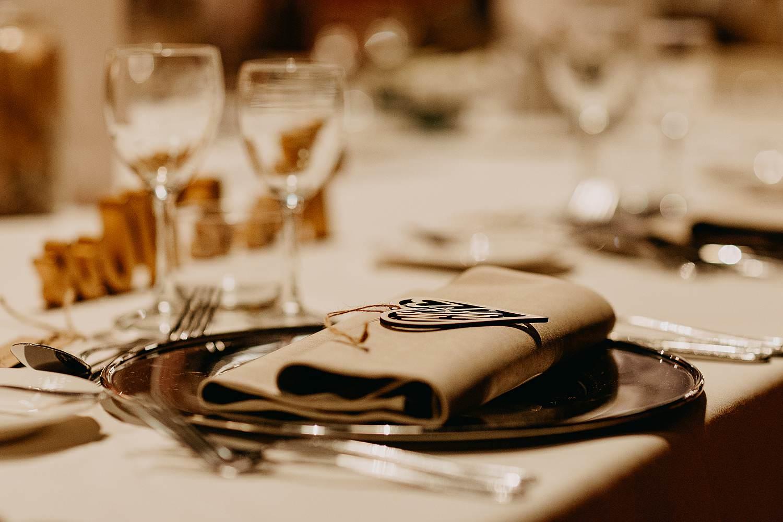 Feesttafel detail huwelijk tafeldecoratie