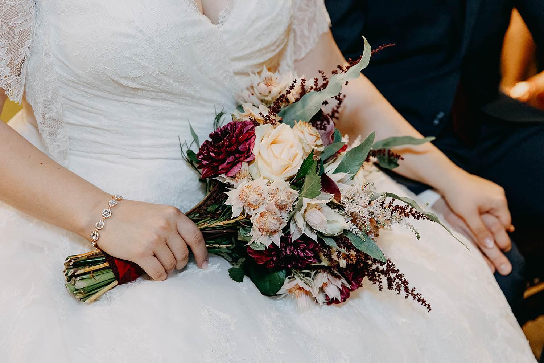 Felix Pakhuis bruidsboeket detail