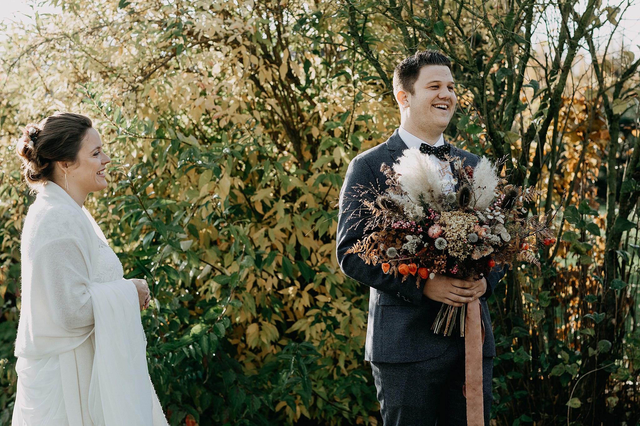 First look huwelijk bruidspaar Kumtich