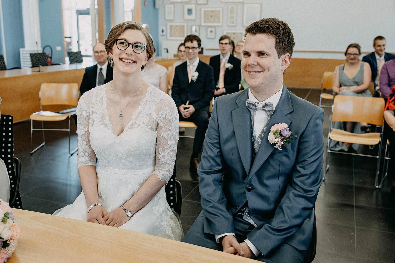 Gemeentehuis Merelbeke huwelijk bruidspaar