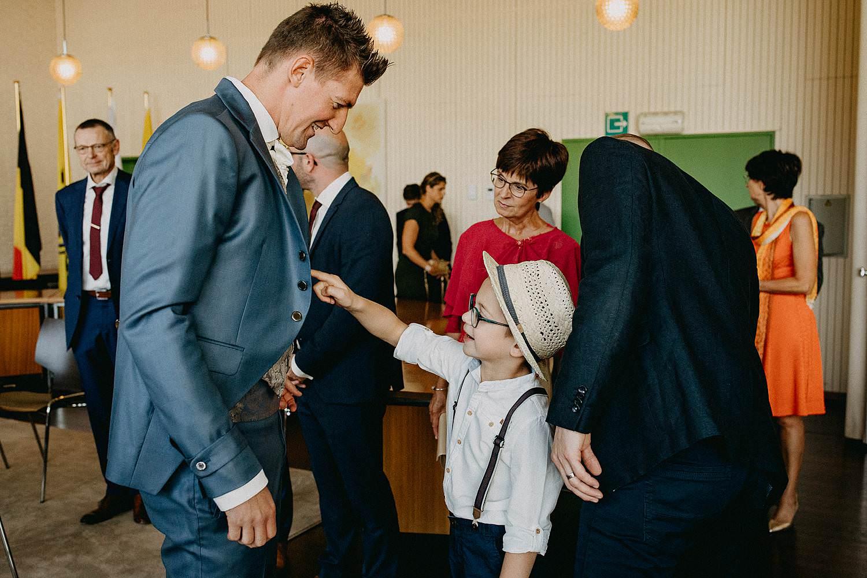 Gemeentehuis Zonhoven bruidsjongen en bruidegom