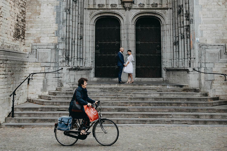 Grote markt Diest huwelijksreportage