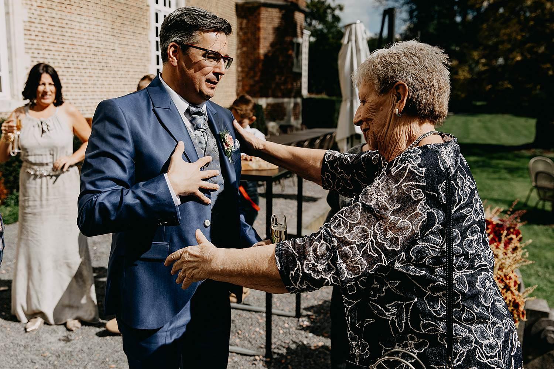 Heerlijckyt van Elsmeren huwelijk bruidegom groet oma