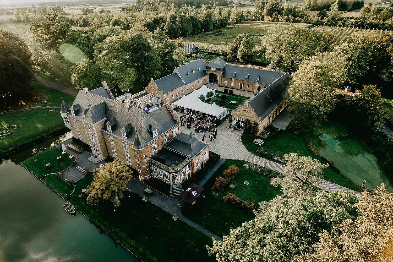 Heerlijckyt van Elsmeren luchtfoto drone kasteel