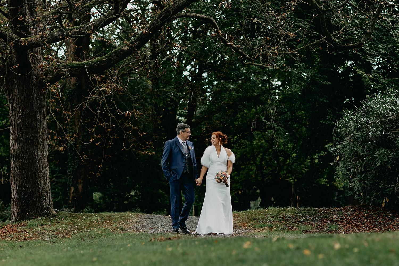 Heerlijckyt van Elsmeren bruidspaar in park