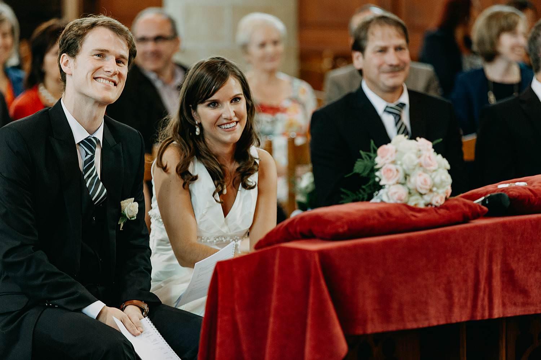 Herzele huwelijk bruidspaar geniet