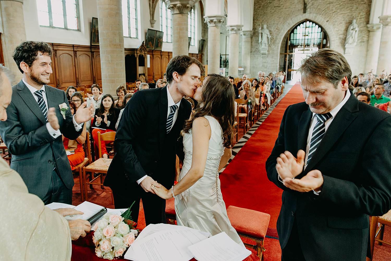 Herzele huwelijk bruidspaar kust
