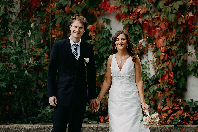 Herzele huwelijk bruidspaar voor wingerd