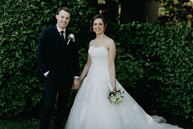 Hof te Rhode bruidspaar tuin