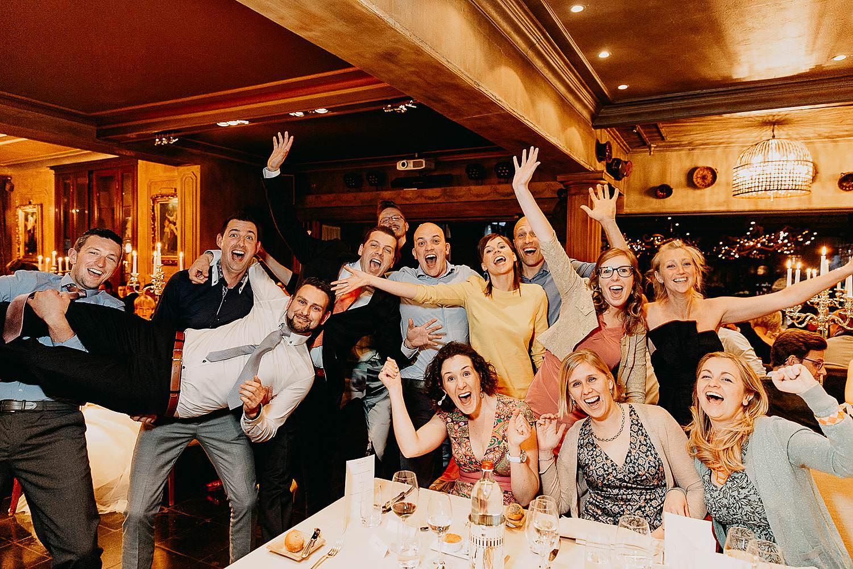 Hof Ten Damme groepsfoto eretafel