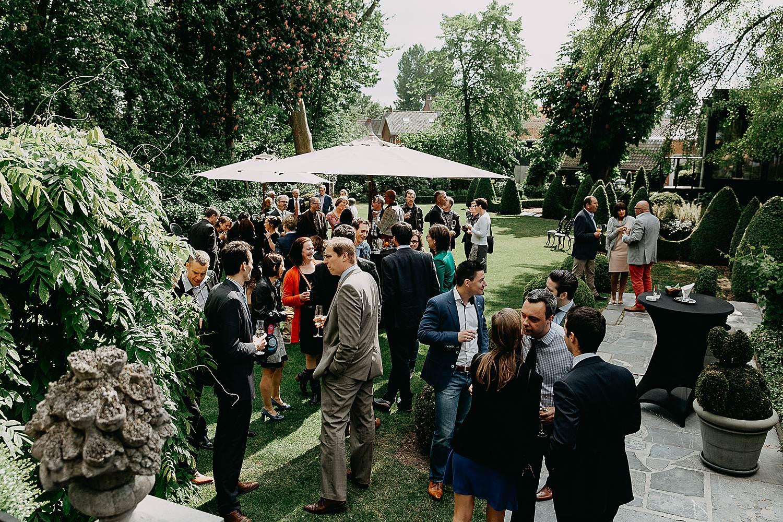 Hof Ten Damme huwelijk receptie tuin