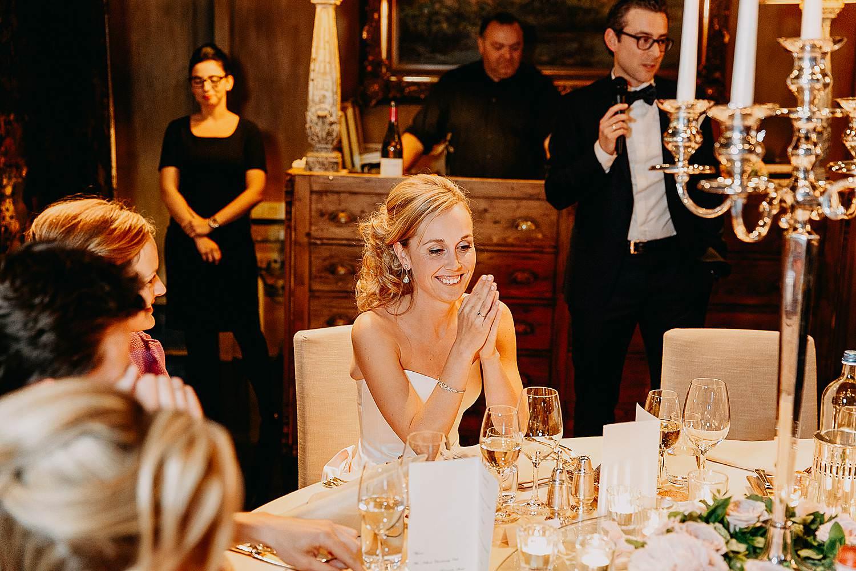 Hof Ten Damme intrede bruidspaar aan feesttafel speech
