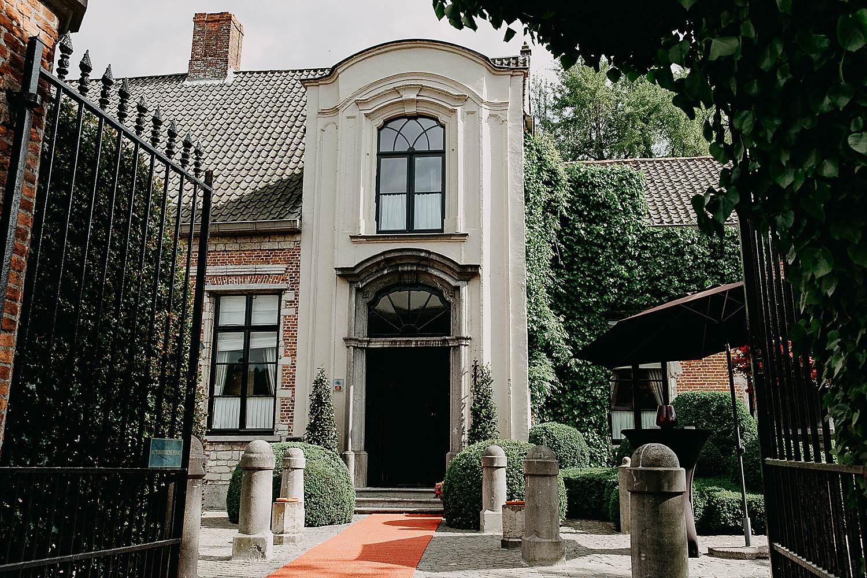 Hof Ten Damme voorgevel feestzaal