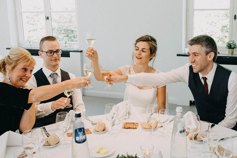 Hof Ten Laere huwelijk eretafel toast
