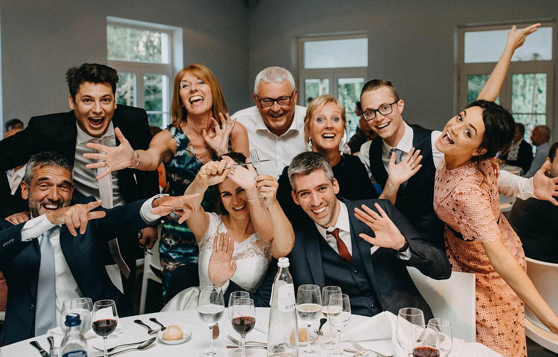 Hof ten Laere huwelijk groepsfoto eretafel
