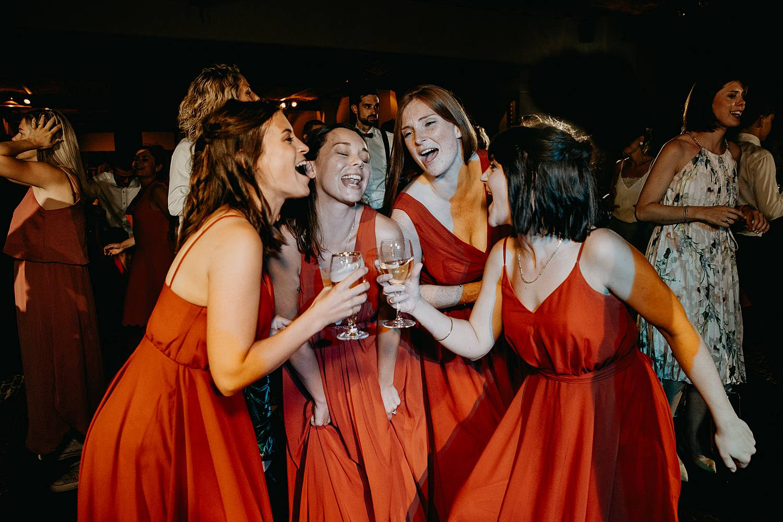 Hof Ten Steen bruidsmeisjes dansen