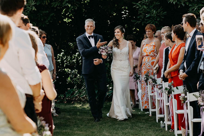 Hof Ter Delft intrede buitenceremonie huwelijk