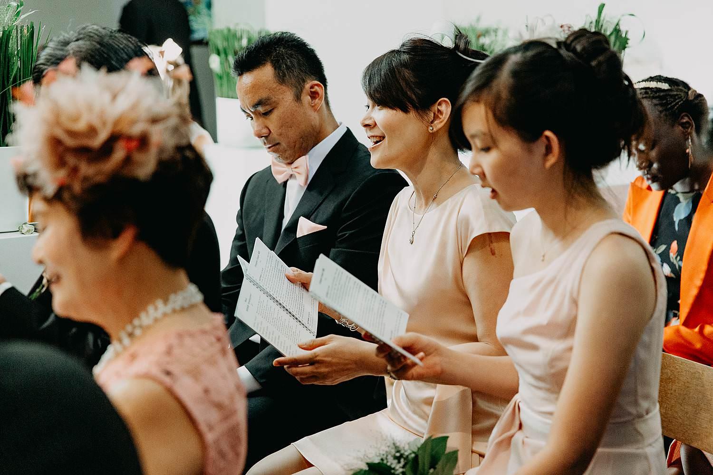 Huwelijk kerk Chinese familie