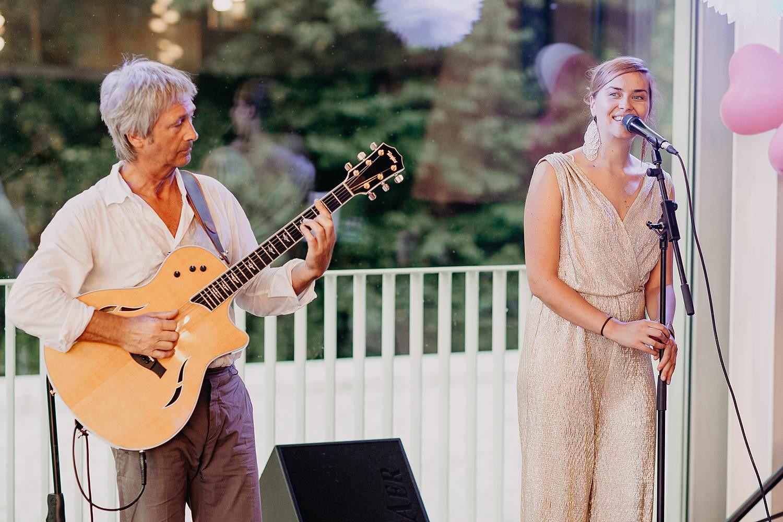 Huwelijk live muziek op golf terrein