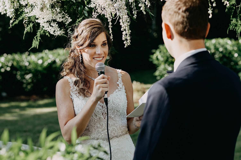 Ja-woord bruid buitenceremonie huwelijk