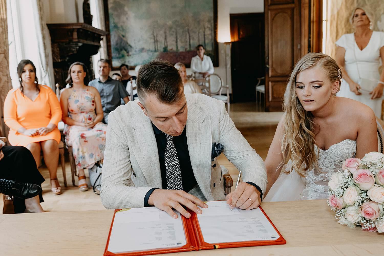 Kasteel Blauwendael tekenen huwelijk