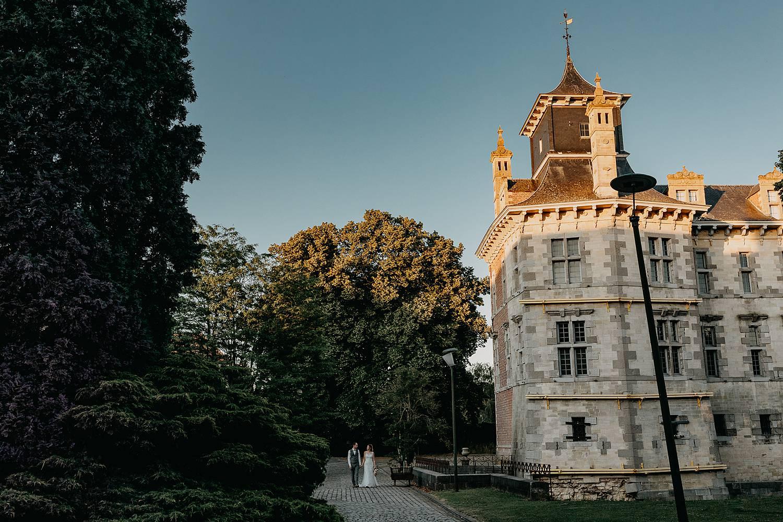 Kasteel d'Aspremont-Lynden huwelijksreportage kasteel