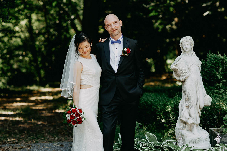 Kasteel Van Nieuwland bruidspaar