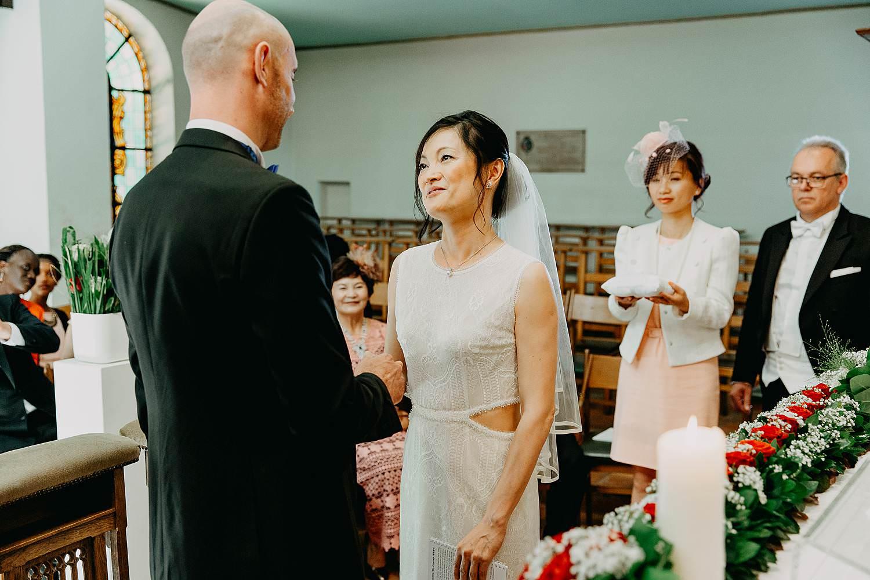 Kerkelijk huwelijk Chinese bruid