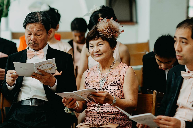 Kerkelijk huwelijk Chinese familie