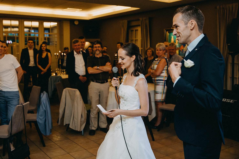 Krekelhof huwelijk speech bruidspaar