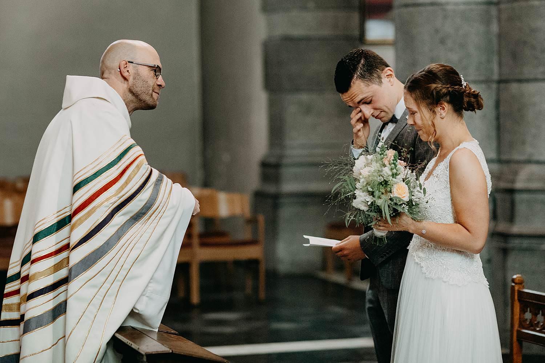 Liedekerke kerkelijk huwelijk bruidspaar