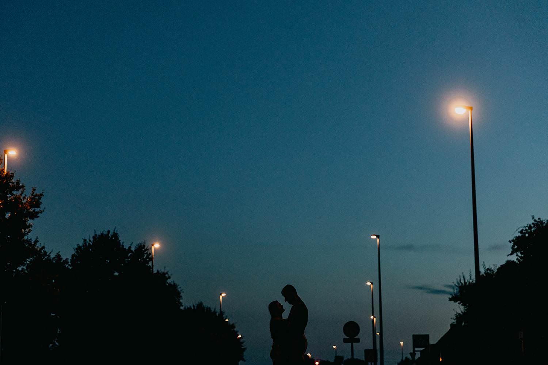 Lochristi bruidspaar silhouet