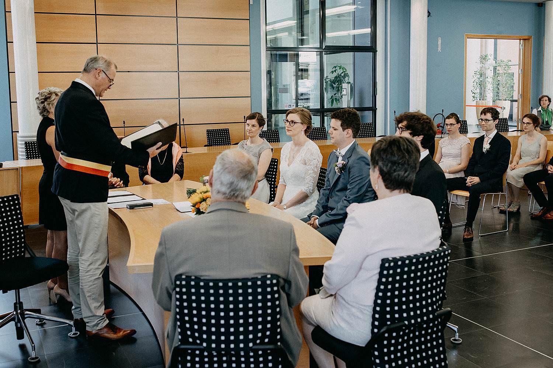 Merelbeke gemeentehuis huwelijk schepen leest