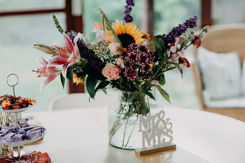 Merelbeke huwelijk bloemstuk