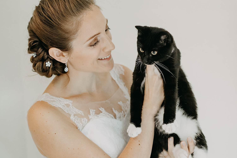 Molenstede bruid met kat